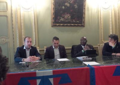 Conferenza stampa su Immigrazione e Sicurezza con Toni Iwobi