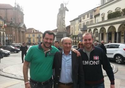 Con Salvini e Beppe Furino, candidato sindaco del centrodestra alle prossime amministrative di Moncalieri
