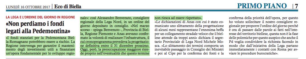 Eco di Biella, 16.10.2017