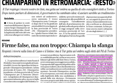 Il Giornale del Piemonte, 10.07.2015