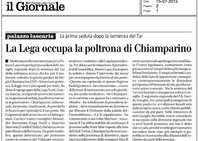 Il Giornale del Piemonte, 15.07.2015