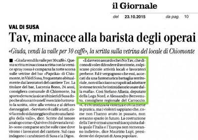 Il Giornale, 23.10.2015