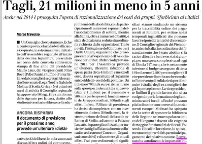 Il Giornale del Piemonte, 23.12.2014