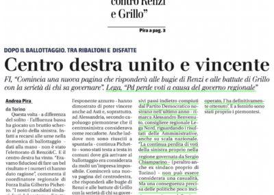 Il Giornale del Piemonte, 27.06.2017
