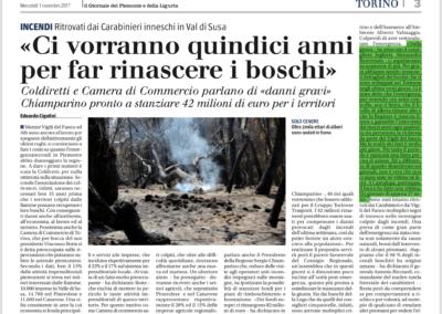 Il Giornale del Piemonte e della Liguria, 01.11.2017