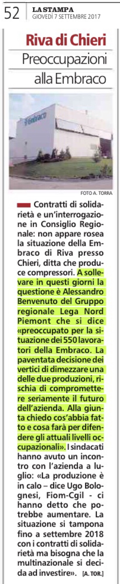 La Stampa, 07.09.2017